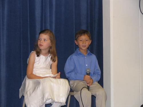 Matthew as narrator in first grade play