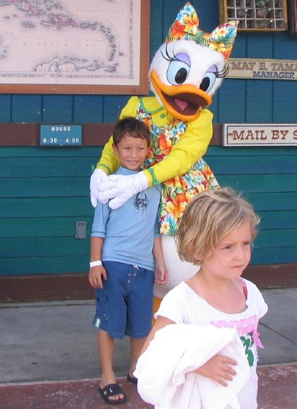 Matthew with Daisy Duck on the Disney Cruise