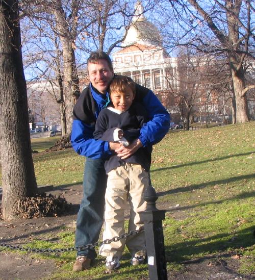 Matthew and Dad on Boston Common
