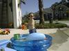 Matthew being cool in his pool