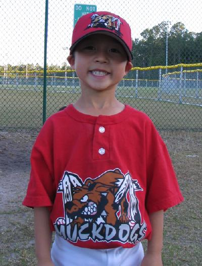 Ryan on the MuckDogs T-ball team